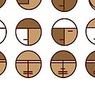 face in circles by goanna