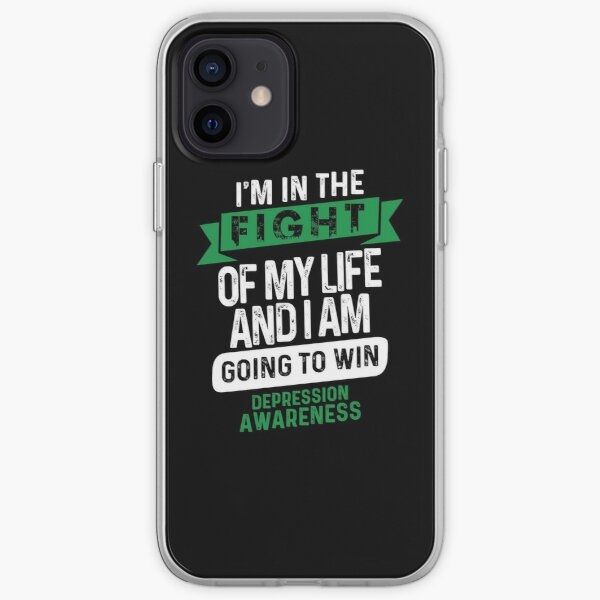 Fight to Win- Depression Awareness Gifts for Women Depression Support Ribbon iPhone Soft Case