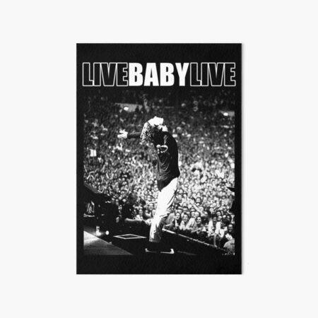 Live Baby Live Halftone Art Board Print