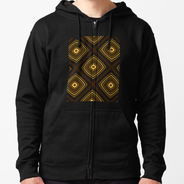 Geometric Triangles With Colorful Seamless Pattern Zipped Hoodie