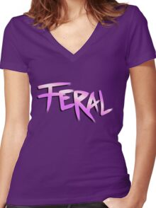 Born Feral (Zootopia) Women's Fitted V-Neck T-Shirt