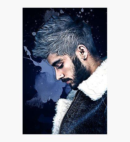 Zayn Malik Paint Splatter Photographic Print