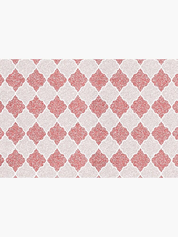 Girly Glitter Moroccan Quatrefoil Pattern by cadinera