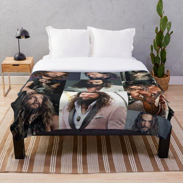 Jason Momoa Collage Throw Blanket