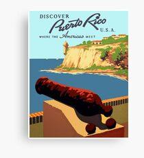 Discover Puerto Rico 1938 Canvas Print