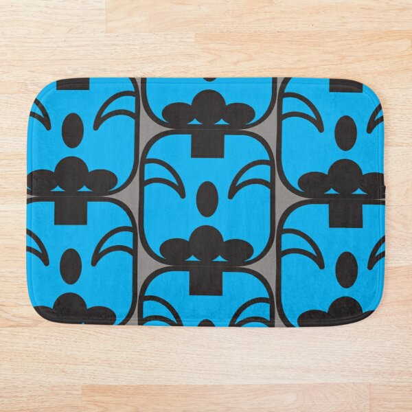 Mayan Planetary Kin - Blue Monkey Bath Mat