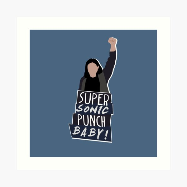 Super Sonic Punch - Cisco Art Print