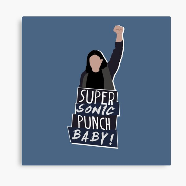 Super Sonic Punch - Cisco Canvas Print