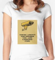 These aren't the droids you are looking for! Women's Fitted Scoop T-Shirt