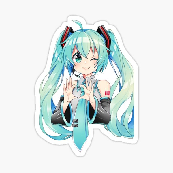 Hatsune Miku heart Sticker