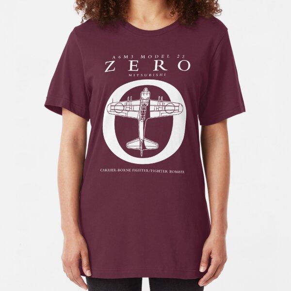 Mitsubishi Zero! Banzai! Slim Fit T-Shirt