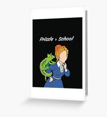 Frizzle > School Cutout Greeting Card