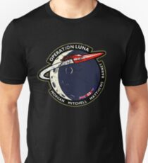 Journey Into Space - Operation Luna Mission Patch - Distressed T-Shirt