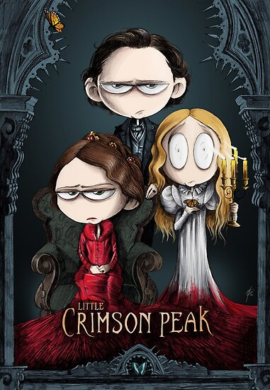 Little Crimson Peak Poster by HashGenius