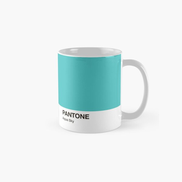 Pantone Colour Aqua Sky. Colour of the year 2003. Classic Mug