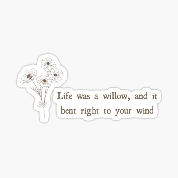 willow: evermore taylor swift Sticker