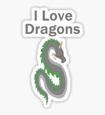 I Love Dragons - Dragon Design - (Designs4You) - Chinese Dragon Sticker