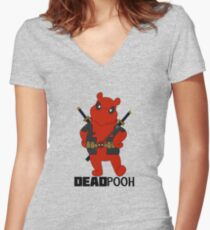 DEADPOOH! Women's Fitted V-Neck T-Shirt