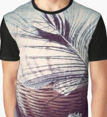Feather on Basket of Shells Graphic T-Shirt