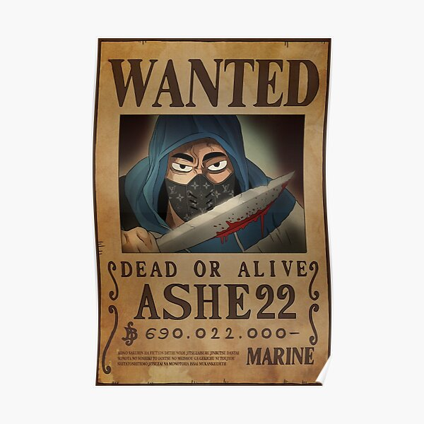 Ashe Wanted Poster