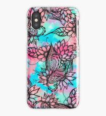 Modern floral watercolor hand drawn fall trend iPhone Case