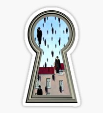 """Magritte from the lock"" Sticker"