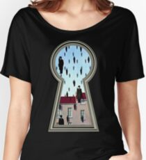 """""""Magritte from the lock"""" Women's Relaxed Fit T-Shirt"""