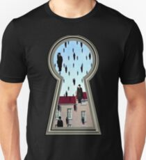 """Magritte from the lock"" T-Shirt"