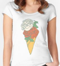 Rose ice cream Women's Fitted Scoop T-Shirt