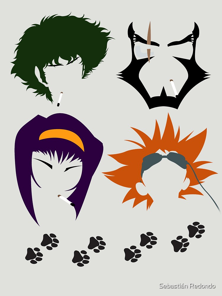 Cowboy Bebop faces | Unisex T-Shirt