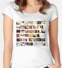 Polaroid: give us those nice bright colors Women's Fitted Scoop T-Shirt