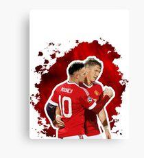 Wayne Rooney and Bastian Schweinsteiger Canvas Print