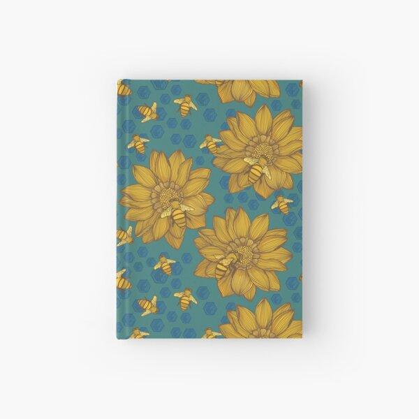 Bee Garden Pattern Hardcover Journal
