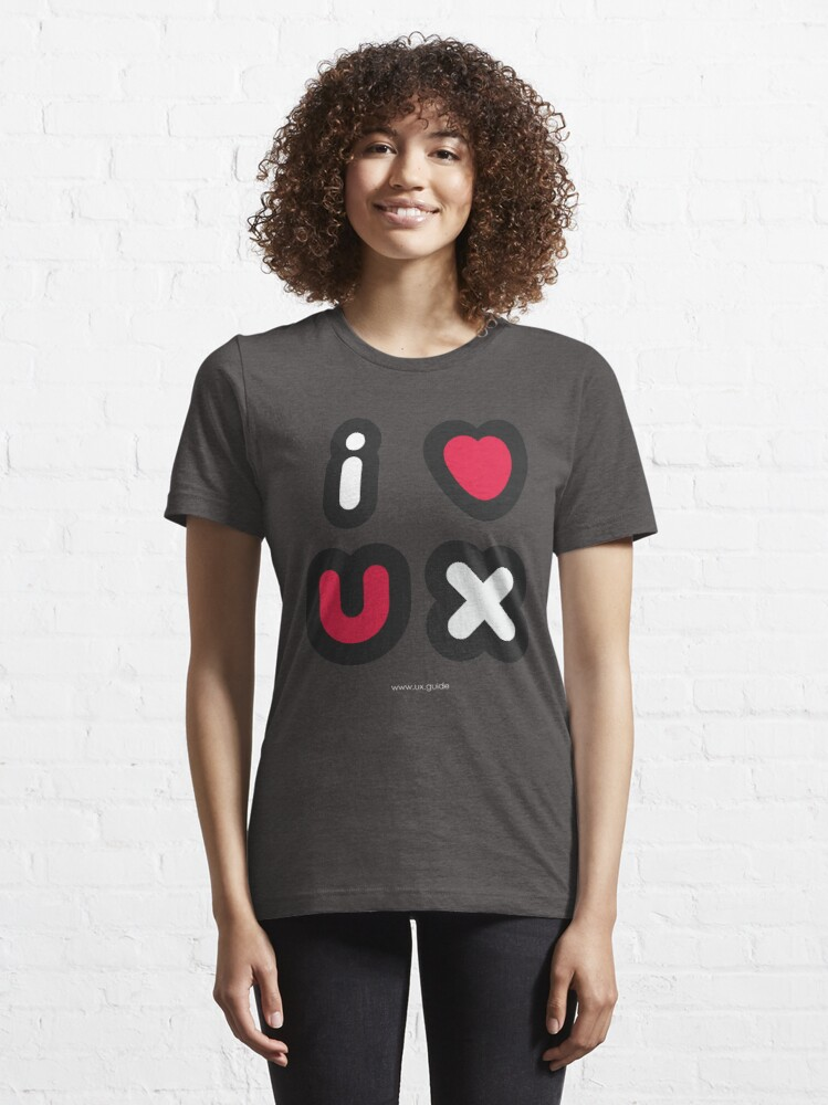 Alternate view of I Heart UX Essential T-Shirt