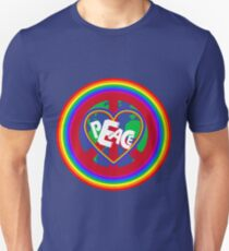 Peace on earth (rainbow) Unisex T-Shirt