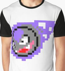 Pokemon 8-Bit Pixel Gastly 092 Graphic T-Shirt