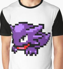Pokemon 8-Bit Pixel Haunter 093 Graphic T-Shirt