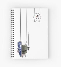 Undertale Lesser dog Spiral Notebook