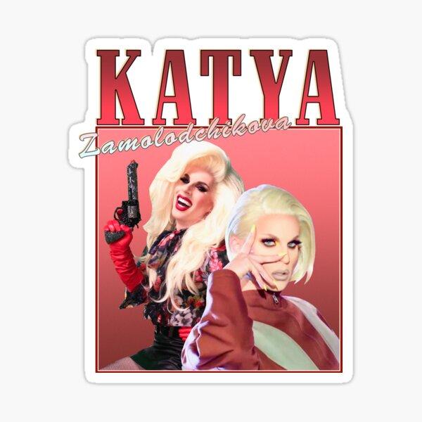 Katya Zamolodchikova Retro Design Sticker