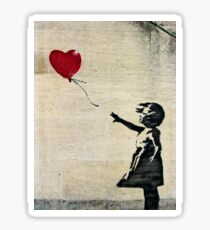 Banksy's Girl with a Red Balloon III Sticker
