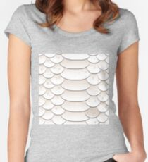 Snake skin texture Women's Fitted Scoop T-Shirt