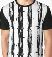 Seamless pattern stripes black and white  Graphic T-Shirt