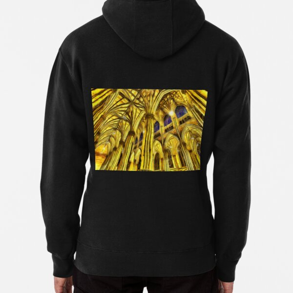 The Van Gogh Cathedral  Pullover Hoodie