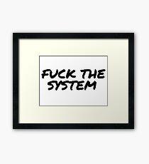 Punk Rock Rebel Revolution Framed Print