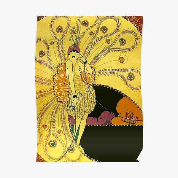 FLAPPER : Vintage 1926 Art Deco Beautiful Print Poster
