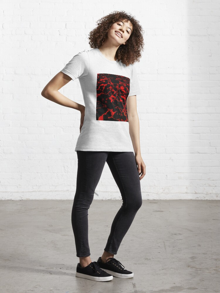 Alternate view of waters glimmer black and red Essential T-Shirt