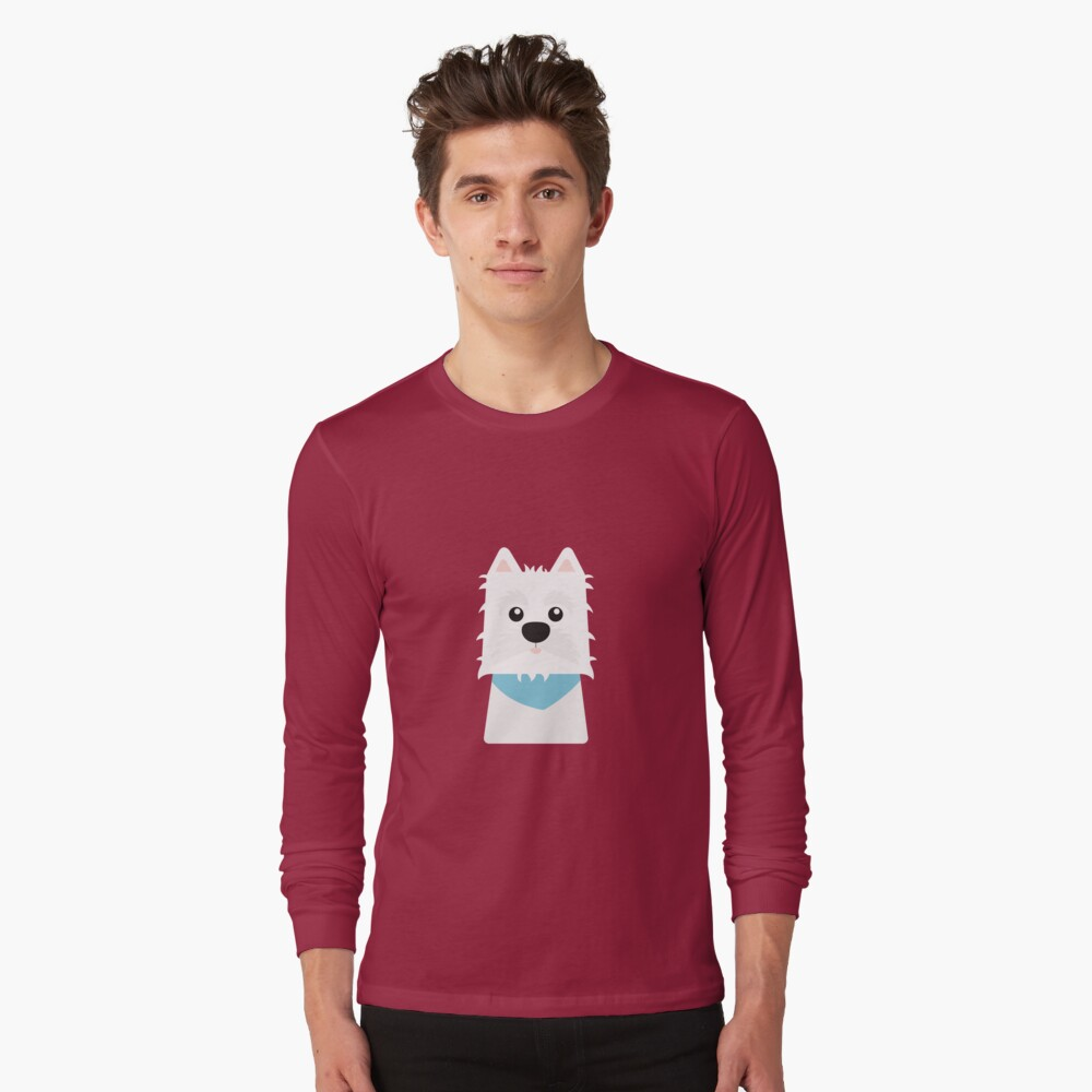 White West Highlad Terrier Long Sleeve T-Shirt