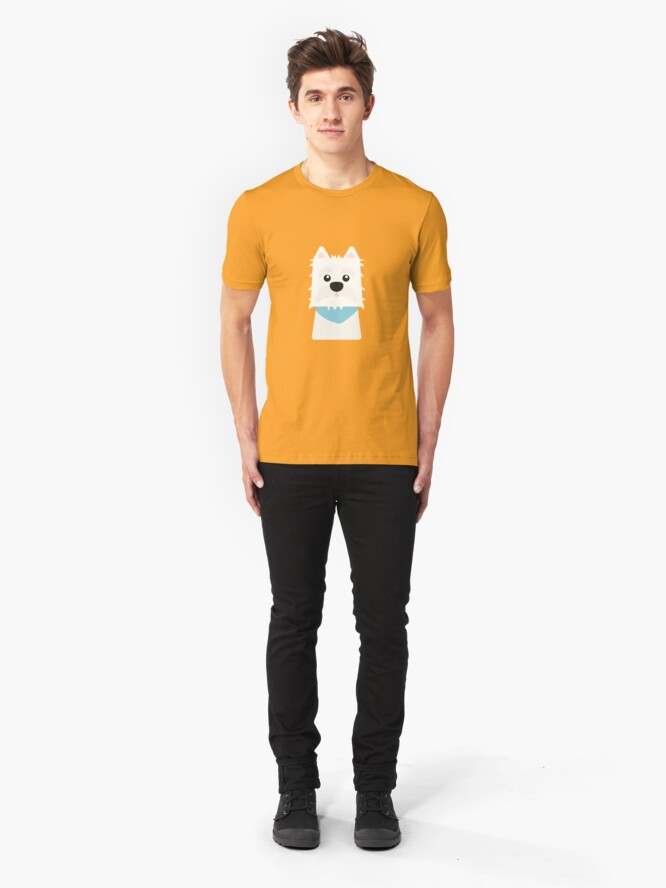 Alternate view of White West Highlad Terrier Slim Fit T-Shirt