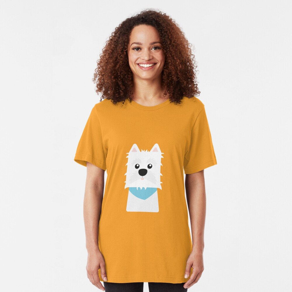 White West Highlad Terrier Slim Fit T-Shirt