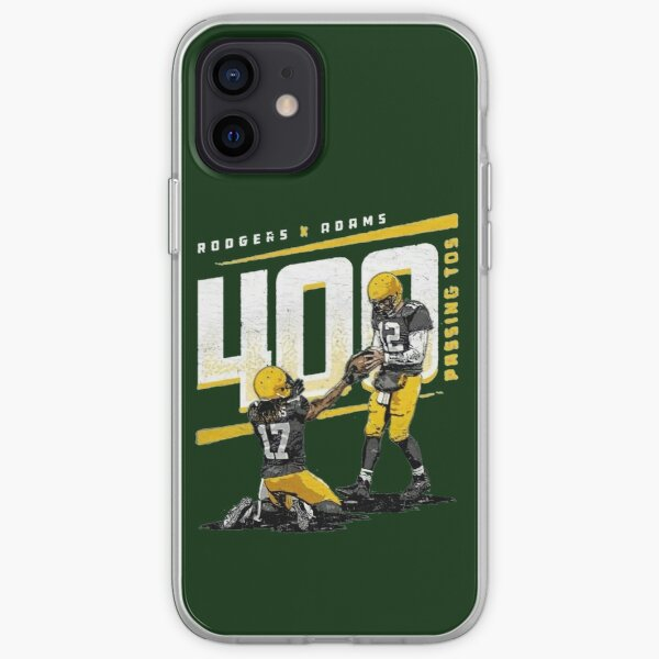 Rodgers and Adams 400 passing tos for Green Bay Packers fans iPhone Soft Case
